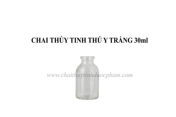 CHAI THỦY TINH THÚ Y TRẮNG 30ml