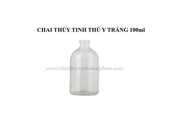CHAI THỦY TINH THÚ Y TRẮNG 100ml