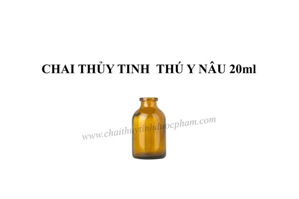CHAI THỦY TINH THÚ Y NÂU 20ml