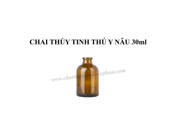 CHAI THỦY TINH THÚ Y NÂU 30ml