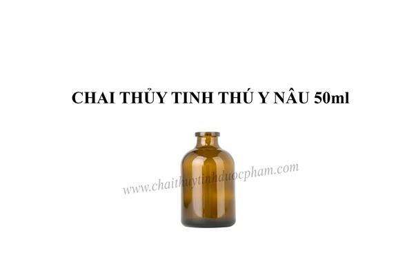 CHAI THỦY TINH THÚ Y NÂU 50ml