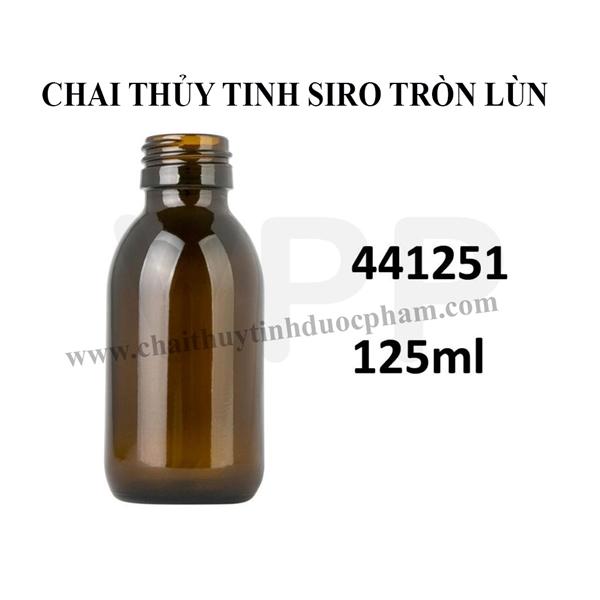 CHAI SIRO THỦY TINH 125ML