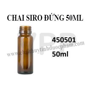 CHAI SIRO THỦY TINH 50ML