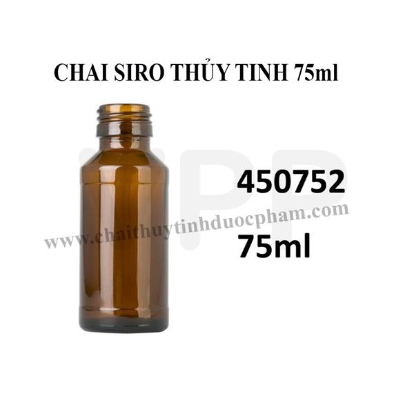 CHAI SIRO THỦY TINH 75ml