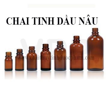 CHAI TINH DẦU NÂU